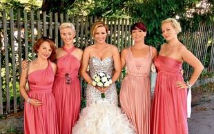 Špelca Kleinlercher je imela na poroki tudi družice!