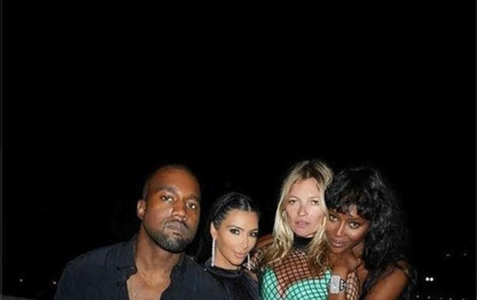 Kim Kardashian, Kanye West, Kate Moss and Naomi Campbell (foto: Profimedia)