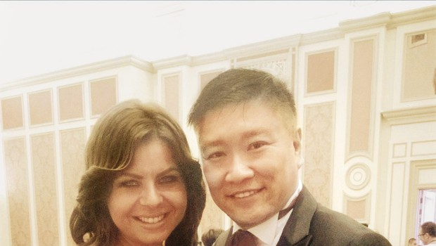 Glasbenica je na povabilo  kitajskega medijskega  mogotca Alana Ngja  odpotovala v Makao, ki  velja za kitajski Las Vegas.  (foto: revija Nova)
