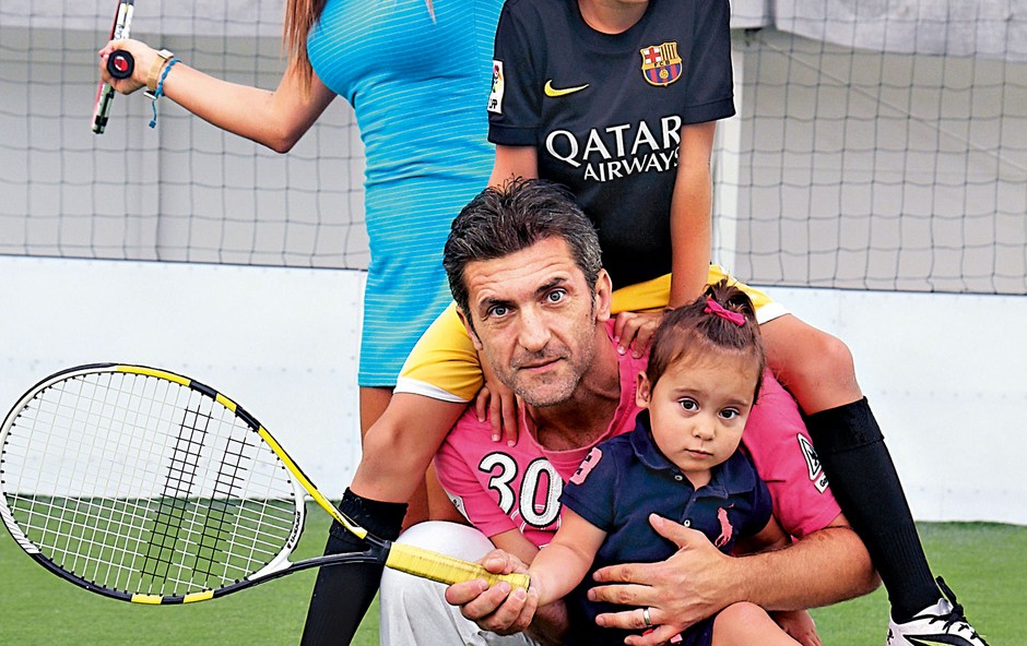 Marinko Galič ima z ženo Saro sina Marina in Maleno. (foto: Borut Midlil)