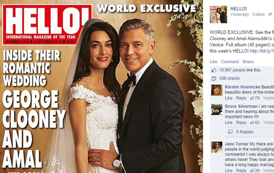 Za odkup uradnih fotografij sta se dogovorila z revijama Hello in People. (foto: Facebook)