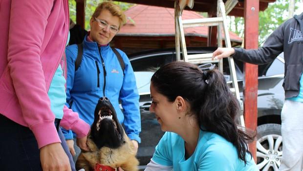 Skupaj s strankami za nasmeh živali (foto: dm)