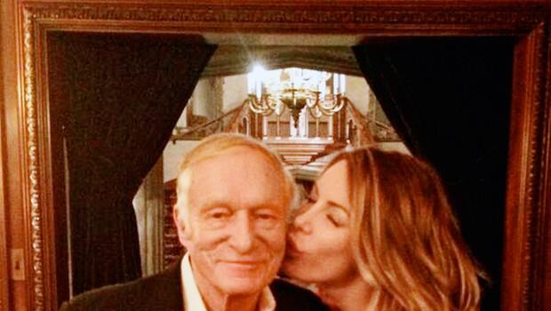 Kljub veliki razliki v letih sta Hugh in Crystal srečen par. (foto: Profimedia)
