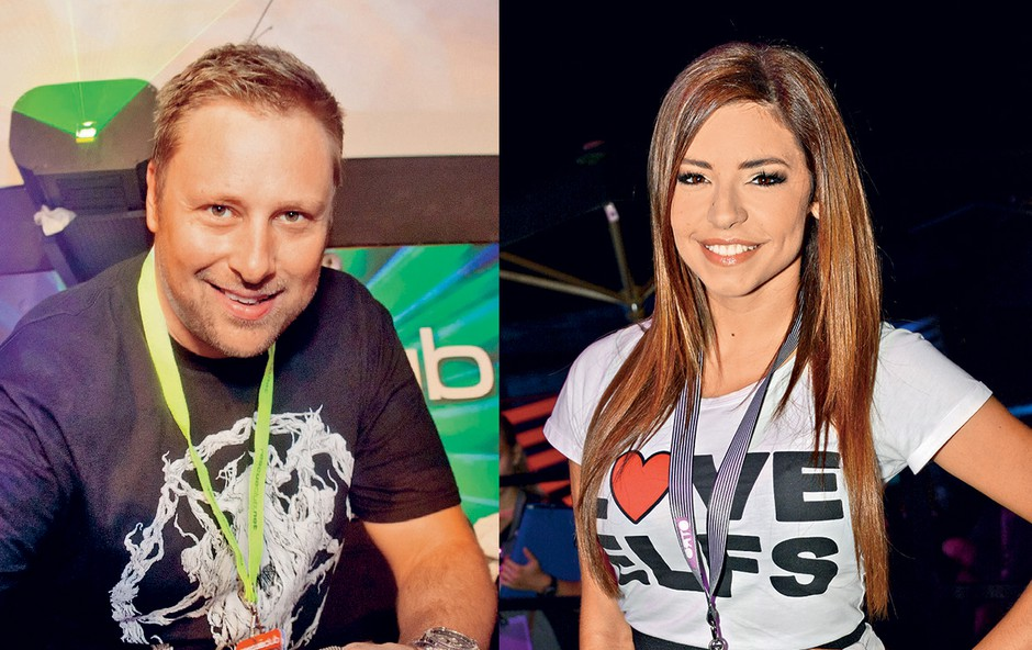 DJ Umek in Špela Jereb (foto: revija Nova)