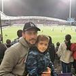 Jure Košir s sinom Jalnom užival v športnem spektaklu