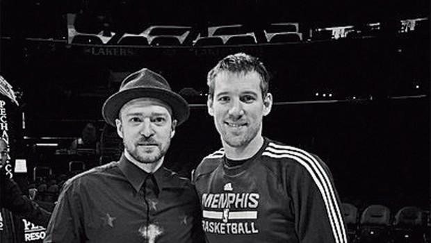 Zmagoviti Beno Udrih in Justin Timberlake (foto: Revija Story)