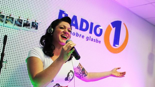 Maja Založnik je navdušila poslušalce Radia 1 (foto: Katja Šadl)