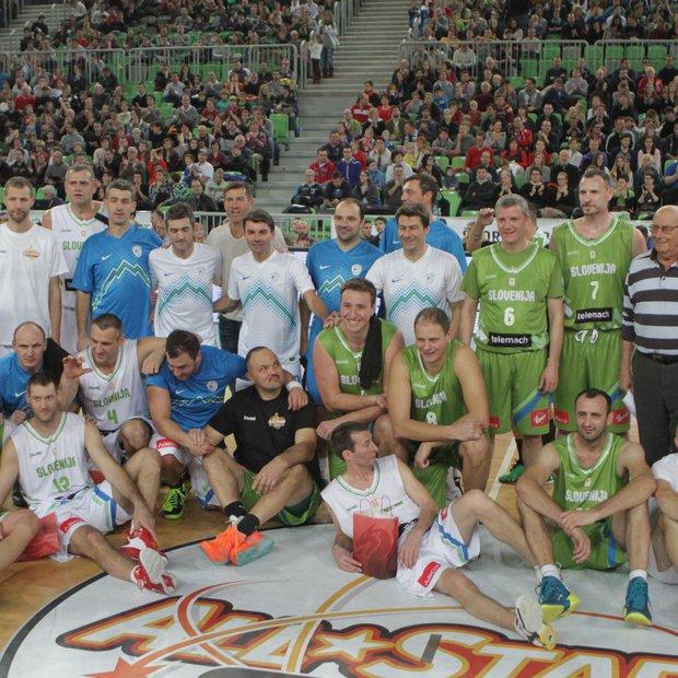 Fotogalerija s tekme All Stars: ko nogometaši in košarkarji združijo moči