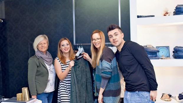 Koprski modni butik Elle je poskrbel za svežo in nadvse modno podobo Marjetke, ki je bila nad pestrim izborom oblačil navdušena. (foto: osebni arhiv)