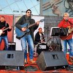 Za glasbeno  dogajanje so  poskrbeli glasbeniki  skupine Proti toči,  proti poledici. (foto: Mediaspeed)