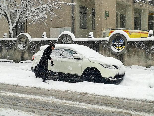 Zametlo jo je v zadnjem  snežnem metežu v prestolnici. (foto: N. Divja)