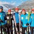 Slovenski biatlonci se zabavajo med količki