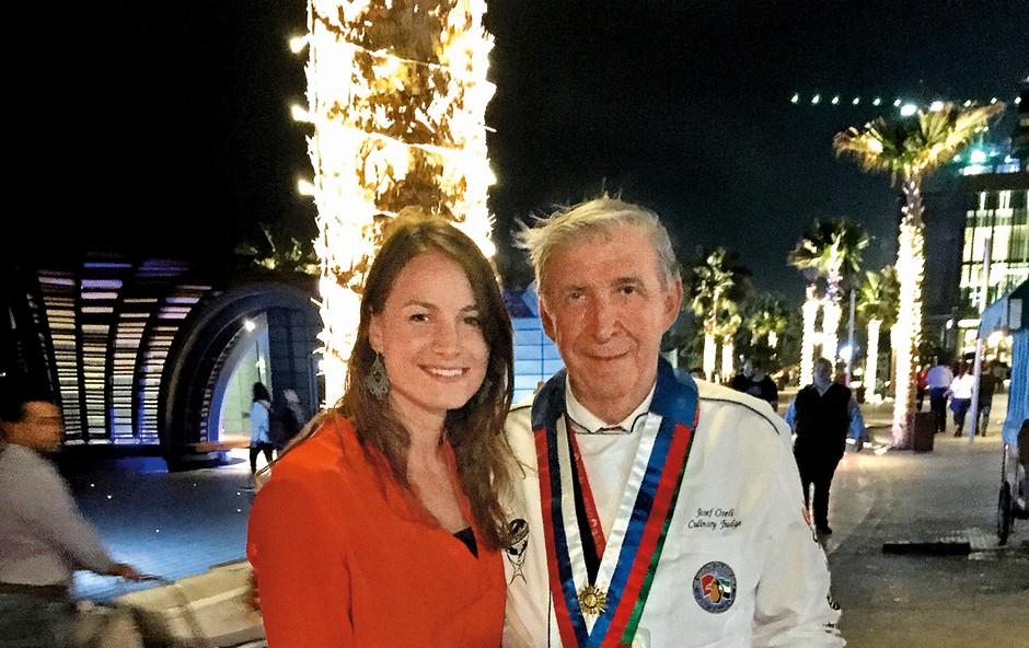 Jože Oseli je Saro v Pekingu na  olimpijskih igrah  presenetil z  gobovo juhico. (foto: M.M.)