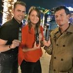 V Dubaju sta Saro  obiskala tudi  Gorazd Kocbek in  Matej Lisjak.  (foto: M.M.)