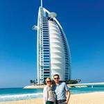 Gorazd in Miša sta se zaročila v Dubaju (foto: Natalija Jelušič Babič, osebni arhiv)