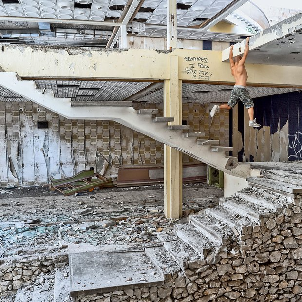 Fotograf Uroš Podlogar se ne boji višine