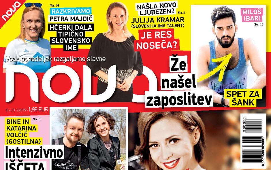 Najnovejša Nova o Žani, Katayi, Milošu iz Bara in imenu hčere Petre Majdič (foto: Nova)