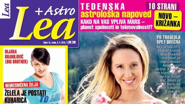Nova Lea o Dijani Branilović, Juliji Kramar in Boštjanu Romihu (foto: Lea)