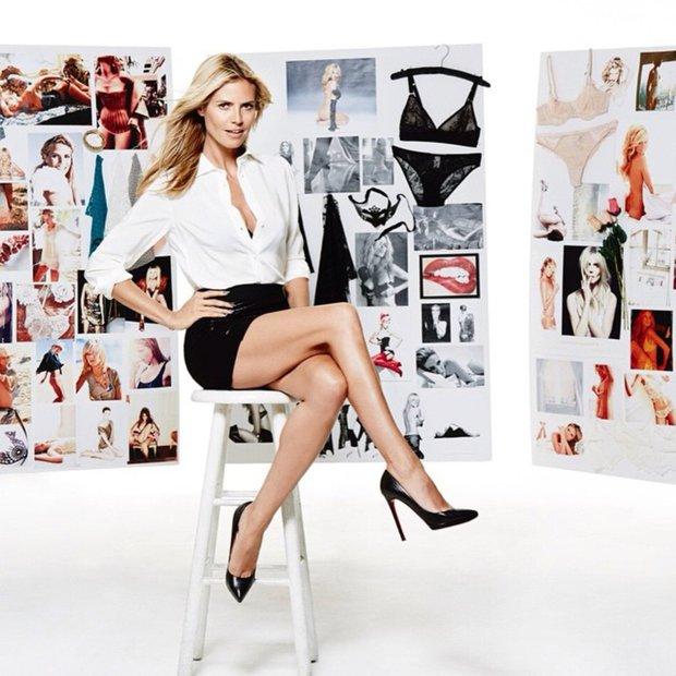 Naličena in nenaličena Heidi Klum - prej in potem