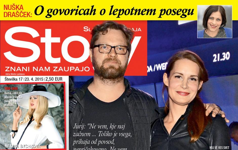 Nova Story o tem, kako je preskočila iskrica med Jurijem Zrnecom in Aleksandro Ilijevski (foto: Story)