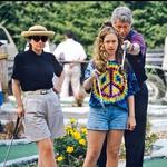 Hčerka Chelsea se je rodila leta 1980 in je njun edini otrok. Danes pa je ključna v predvolilnem štabu mame Hillary.  (foto: Profimedia)