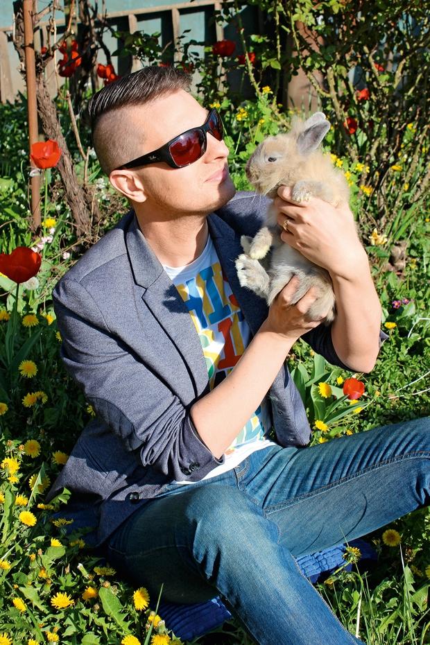 Domači ljubljenček Damjana Murka je zajček  (foto: Lea)