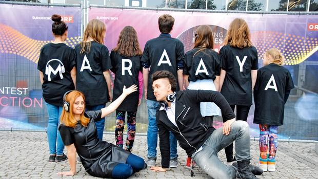 Raaya in Marjetko bosta na Evrovizijo spremljala sinova (foto: Lea)