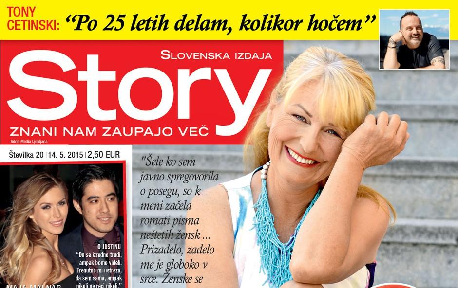 Zvezdana Mlakar za Story odkrito o inkontinenci in popravljenih dojkah (foto: Story)