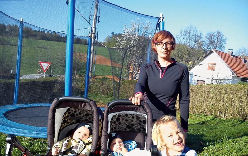 Mamica, ki ob treh otrocih uživa še v teku (foto: osebni arhiv)