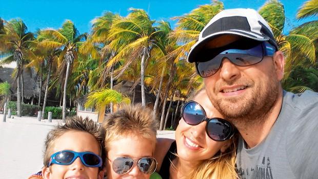 Natka, Zvone, Luka in Niko so počitnice preživeli v Mehiki. (foto: osebni arhiv)
