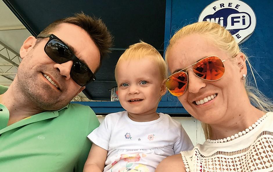 Miša je dopust  preživela z možem in hčerko Kiano v  Dalmaciji. (foto: osebni arhiv)