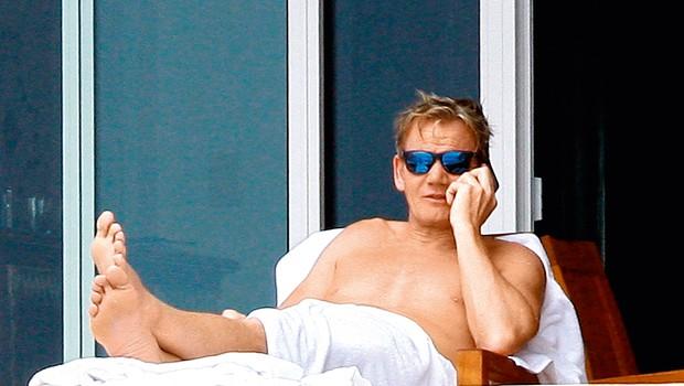 Gordon dobro ve, kako se sprostiti in odpočiti. (foto: Profimedia)