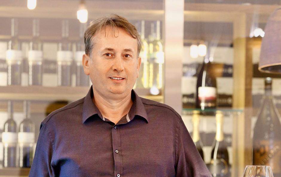 Enolog Danilo Flakus uspešno vodi vinsko klet Dveri-Pax. (foto: Uroš Modlic)