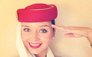 Kako poteka tipičen dan stevardese pri letalski družbi Emirates Airlines?
