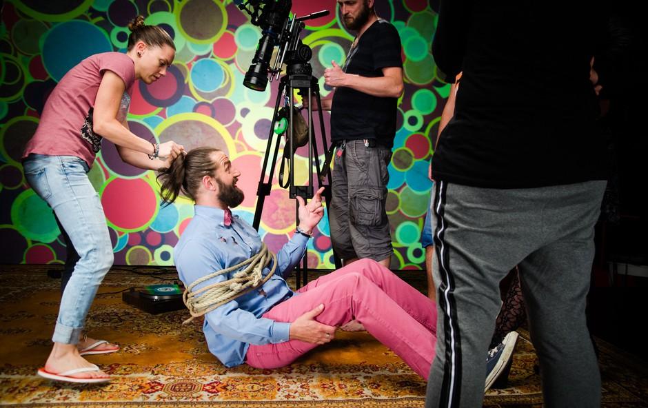 Hamo&Tribute 2 love na snemanju novega videospota (foto: Marko Alpner)