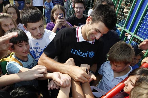 Novak Đoković je postal UNICEF-ov globalni ambasador dobre volje (foto: UNICEF)