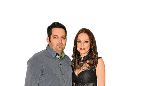 Dejan in Natalija sta letos praznovala sedmo obletnico poroke.  (foto: Sašo Radej)