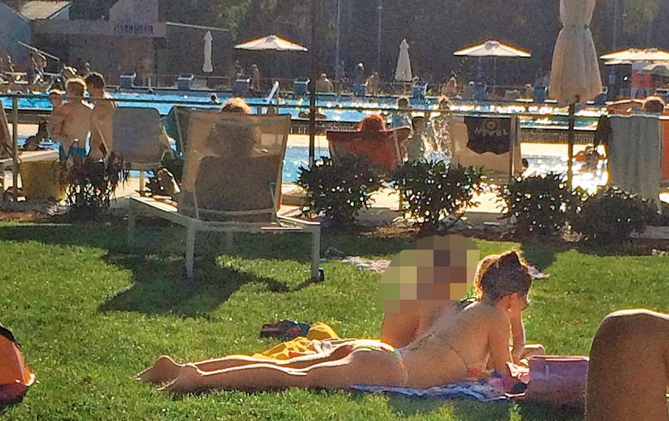 Sabina Kogovšek ujeta na bazenu (foto: Nova Press)