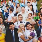 Na družinski poroki je bilo skoraj 60 sorodnikov. (foto: Claudio Sobolčec in Katja Skornšek)