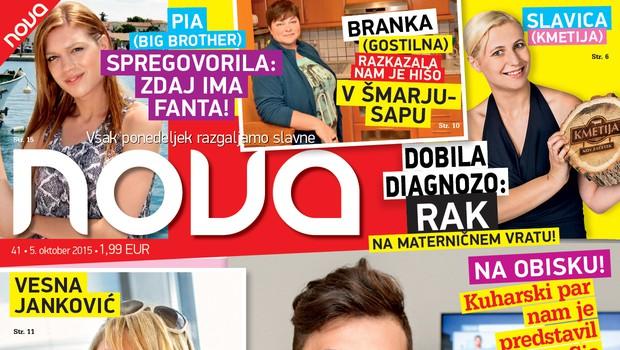 Pia ima fanta, Vesna je zaljubljena, mala Sia pa se zbuja na dve uri in pol, piše nova Nova! (foto: Nova)