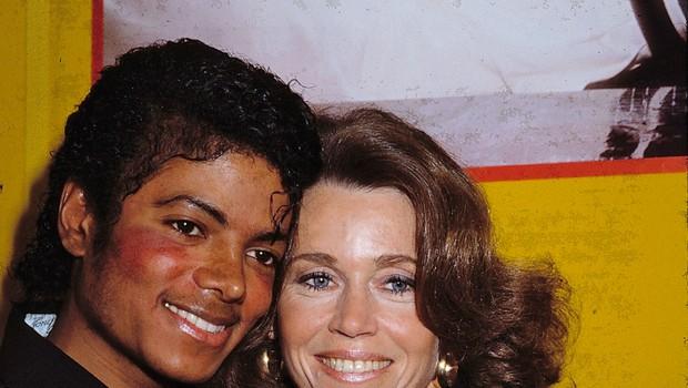 Na fotografiji: Jane Fonda in Michael Jackson (foto: Profimedia)
