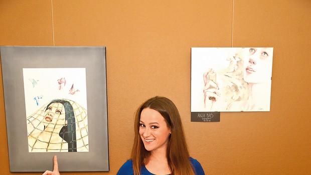 Anja Baš: Premagala bulimijo in se našla v slikarstvu (foto: B.M)