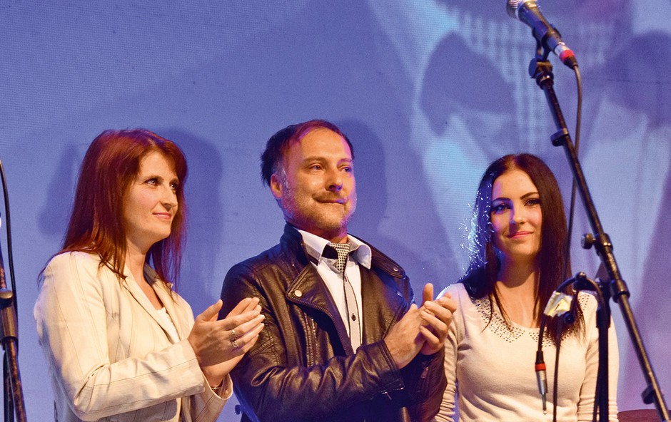 Koncert je bil za Tomaža zelo čustveno obarvan. (foto: Primož Predalič, Luka Pišljar)