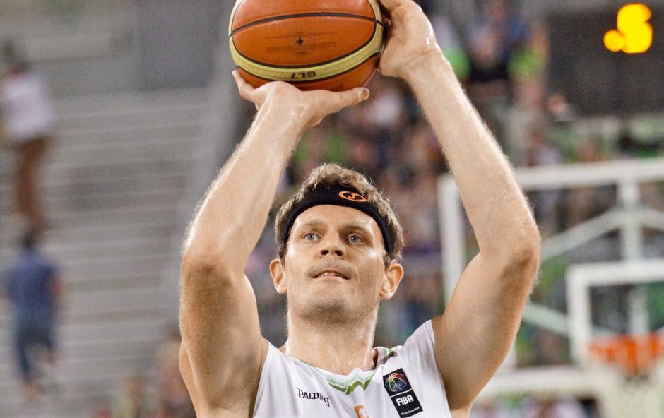 Miha Zupan - prvi gluhi košarkar, ki je nastopil na evropskem prvenstvu (foto: Goran Antley)