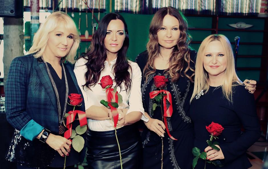 Anja Rupel, Pika Božič, Nuša Derenda in Alenka Godec predstavljajo single 'Dobro se imej'! (foto: Boštjan Tacol)