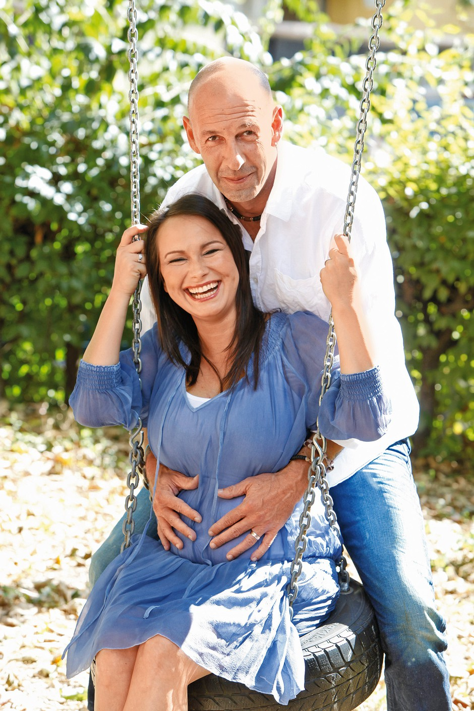 Jože je znova postal očka. Z ženo Doris sta dobila deklico Suri. (foto: Lea Press)