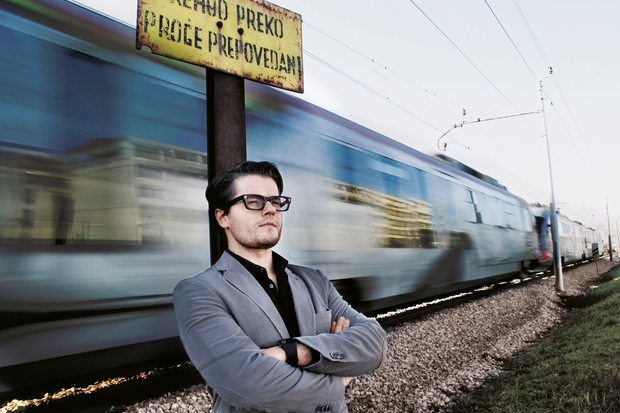 """Jure Godler: """"Bolj je politik radikalen, bolj je smešen"""" (foto: Goran Antley)"""