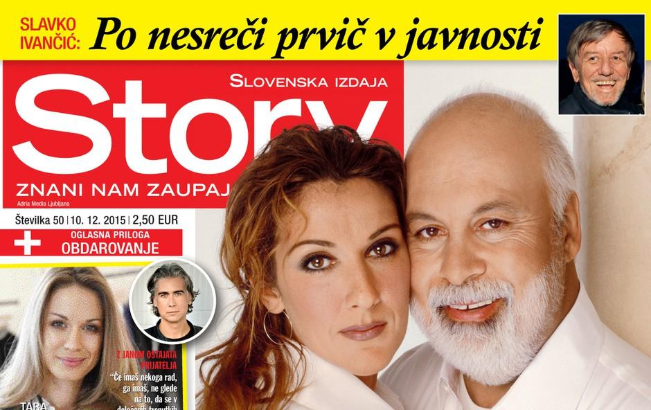 Celine Dion skrbi za hudo bolnega moža, piše nova Story