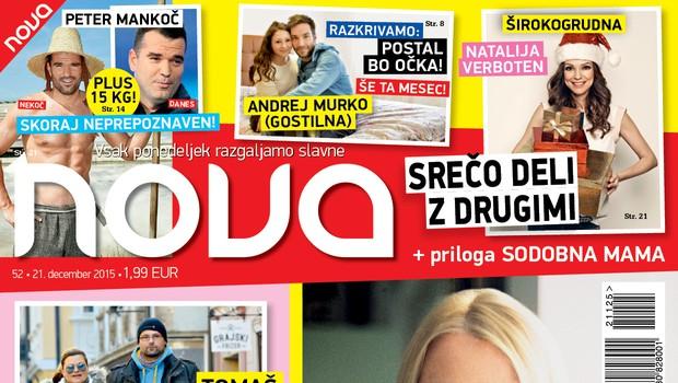 Nova z dobrimi mislimi za Simono, a tudi o tem, da bo Andrej Murko kmalu očka!