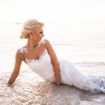 Martina je v  prečudoviti beli  obleki kar sijala. (foto: Osebni arhiv)